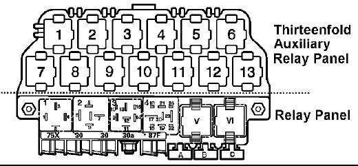 2001 VW Jetta Relay Diagram