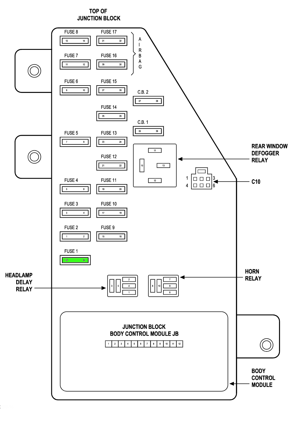 2012 Chrysler 200 Fuse Box Diagram 34 Wiring Images Dodge Journey Location 2002 Sebring