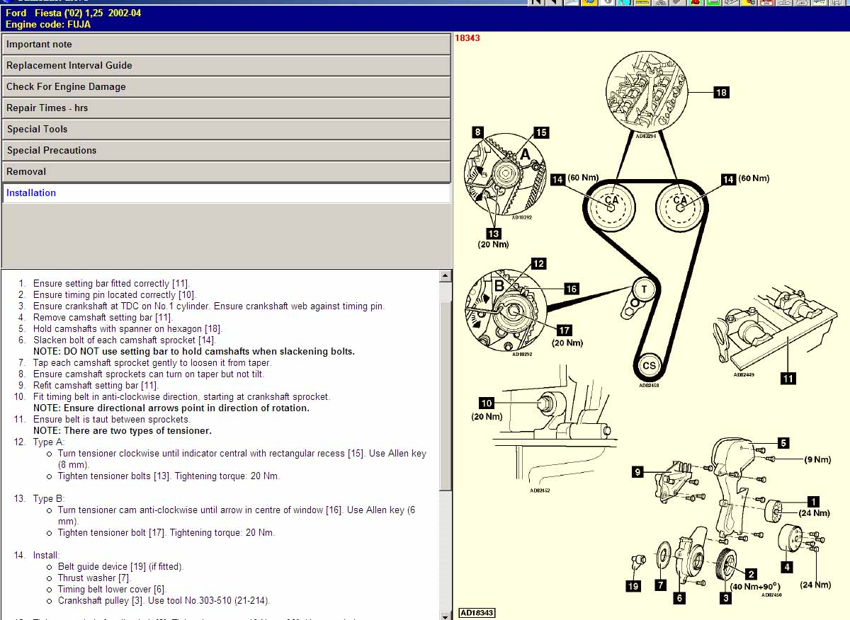 Ford Focus 16 Zetec Engine Diagram