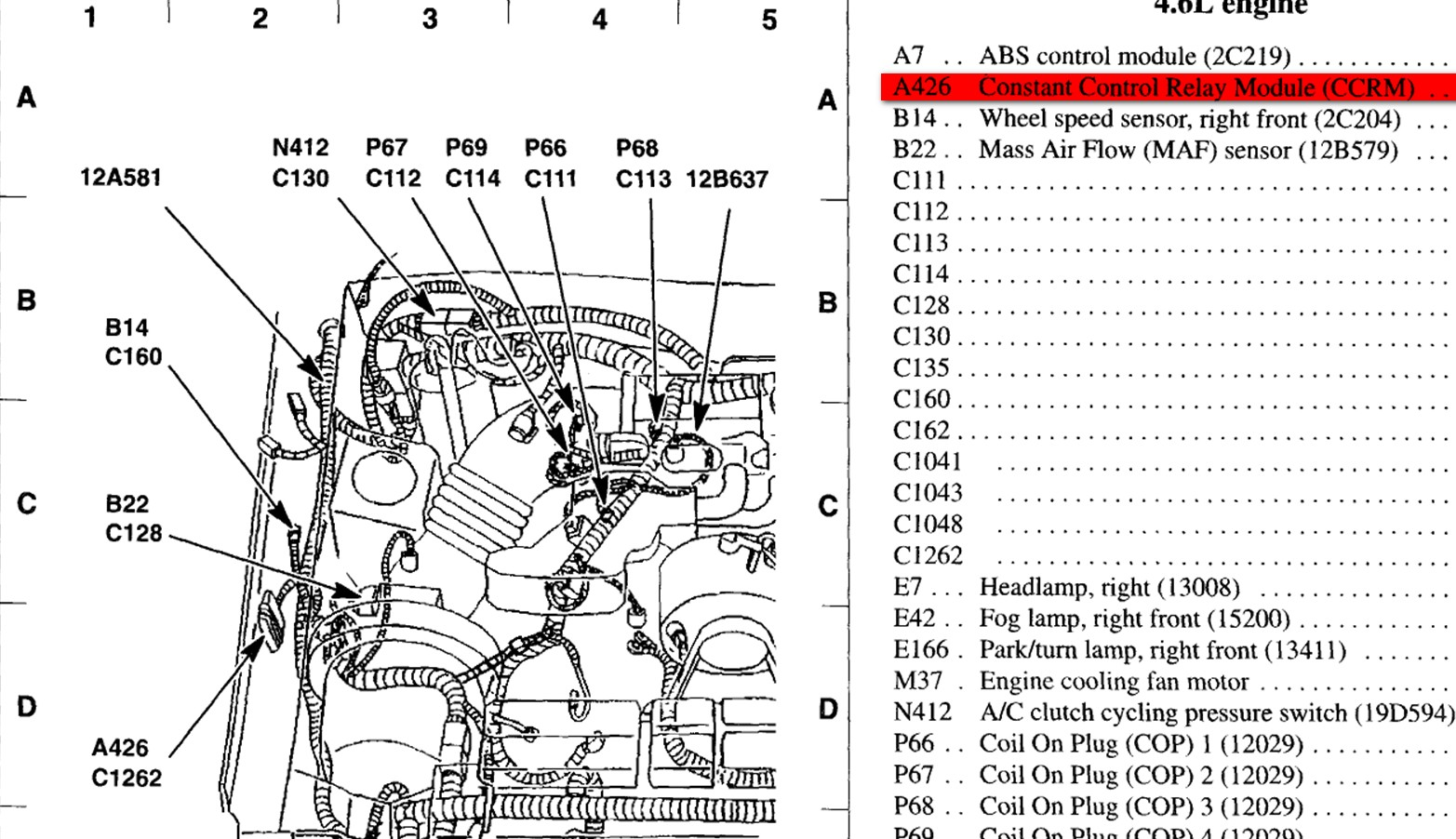 2003 Ford Mustang V6 Engine Diagram 2003 Mustang V6 Engine