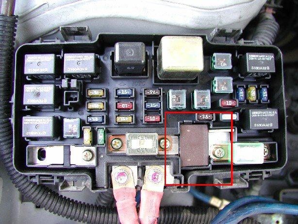 2002 honda civic fuse box diagram image details 2002 honda civic alternator fuse location