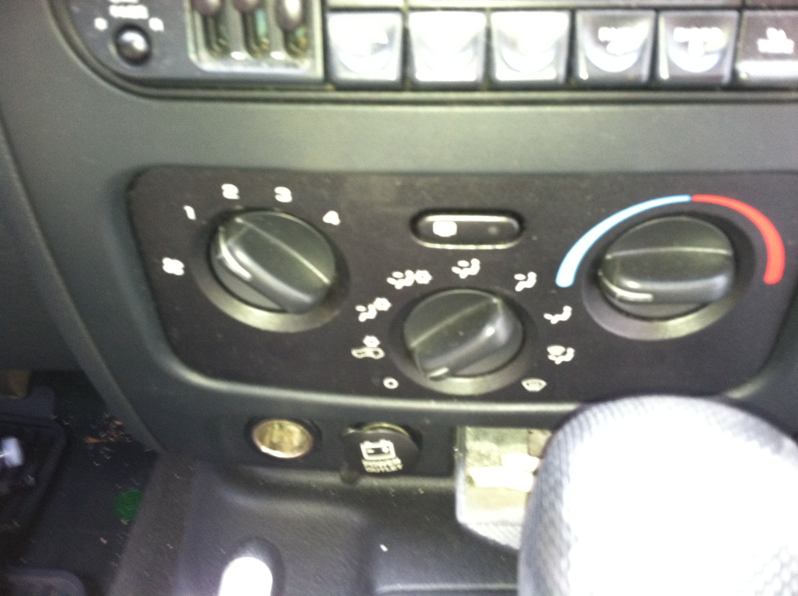 2002 Jeep Liberty Heater Control Switch
