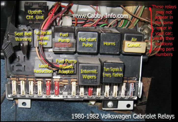 2002 VW Jetta Fuel Pump Relay Location