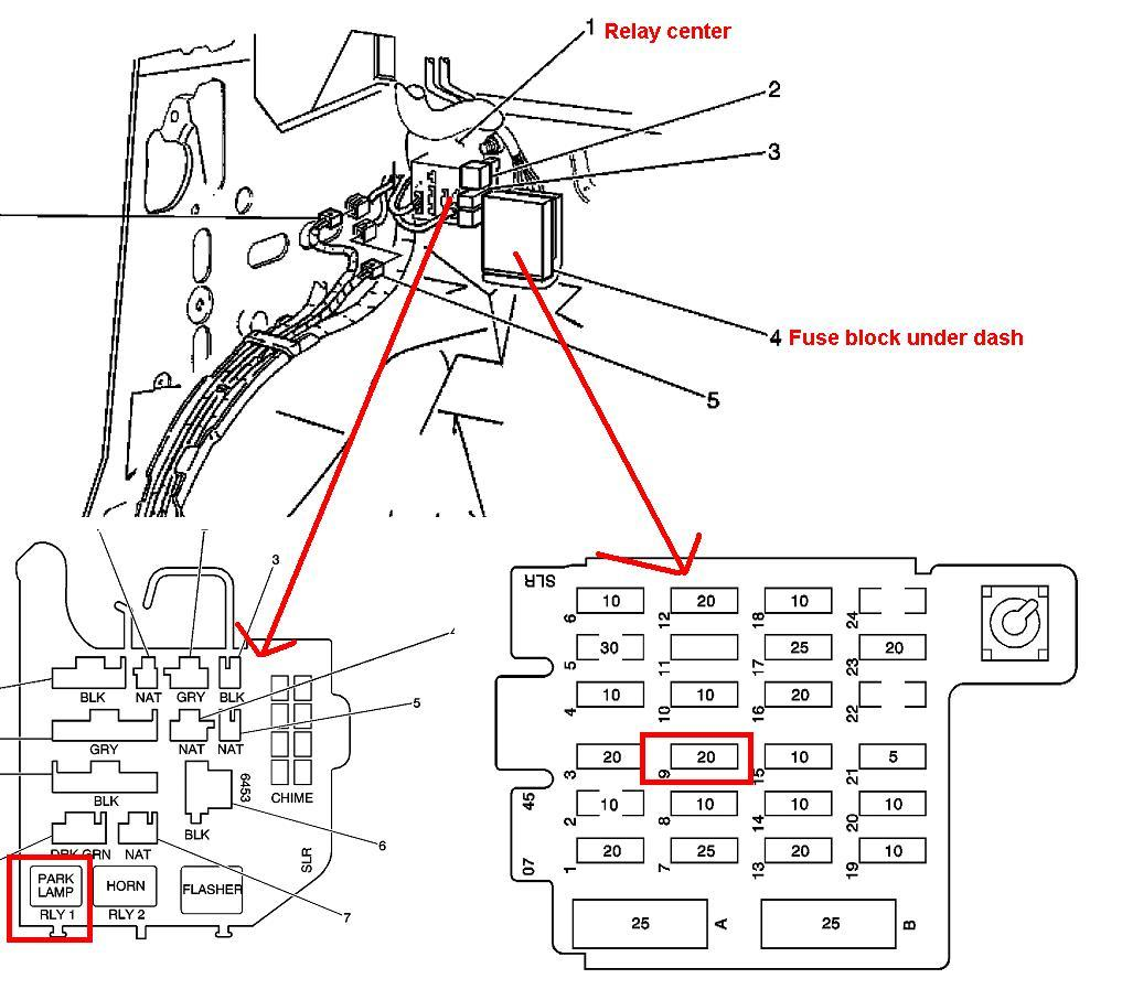 1997 chevrolet express 3500 fuse diagram