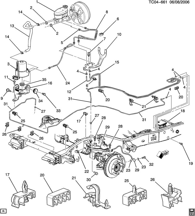 chevy k1500 brakes diagram