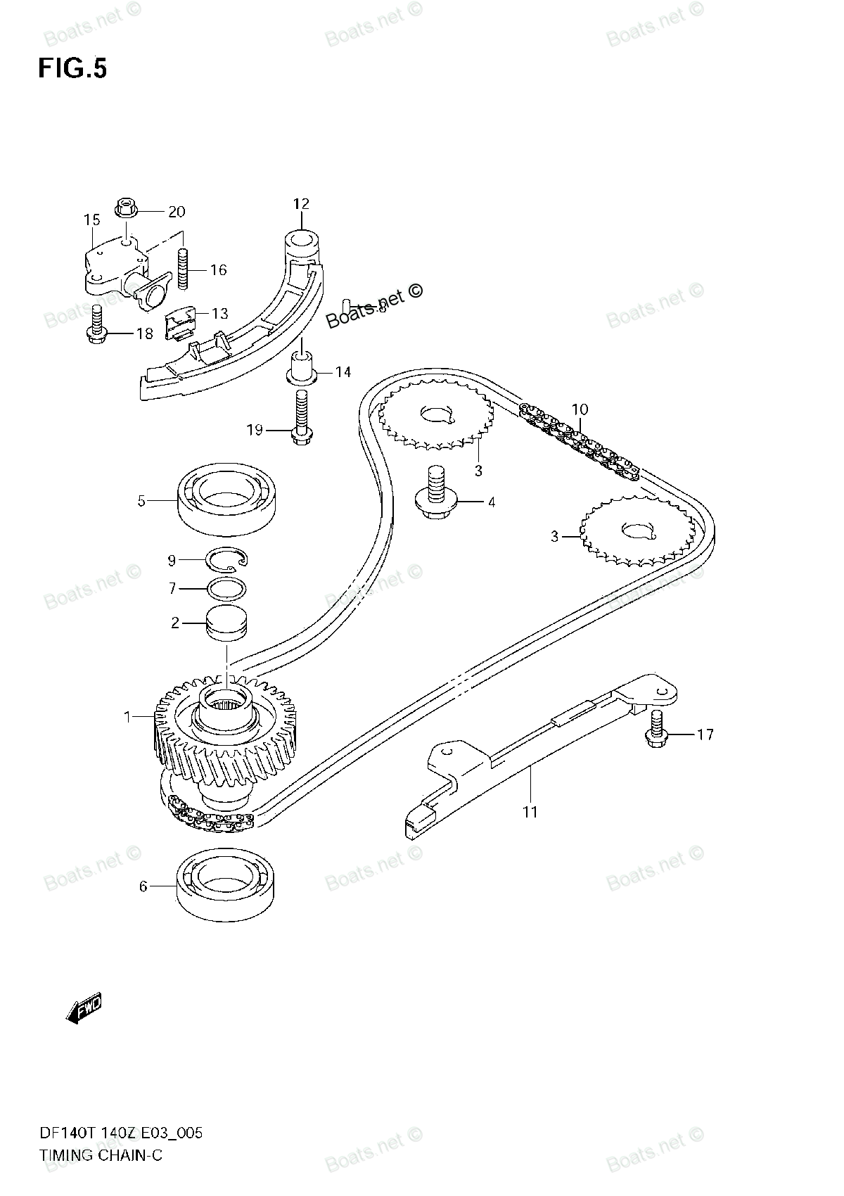 2003 Ford Taurus Engine Diagram of Timing Chain