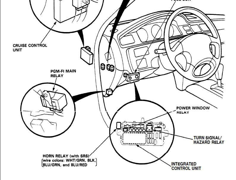 2003 Honda Accord Turn Signal Relay Location