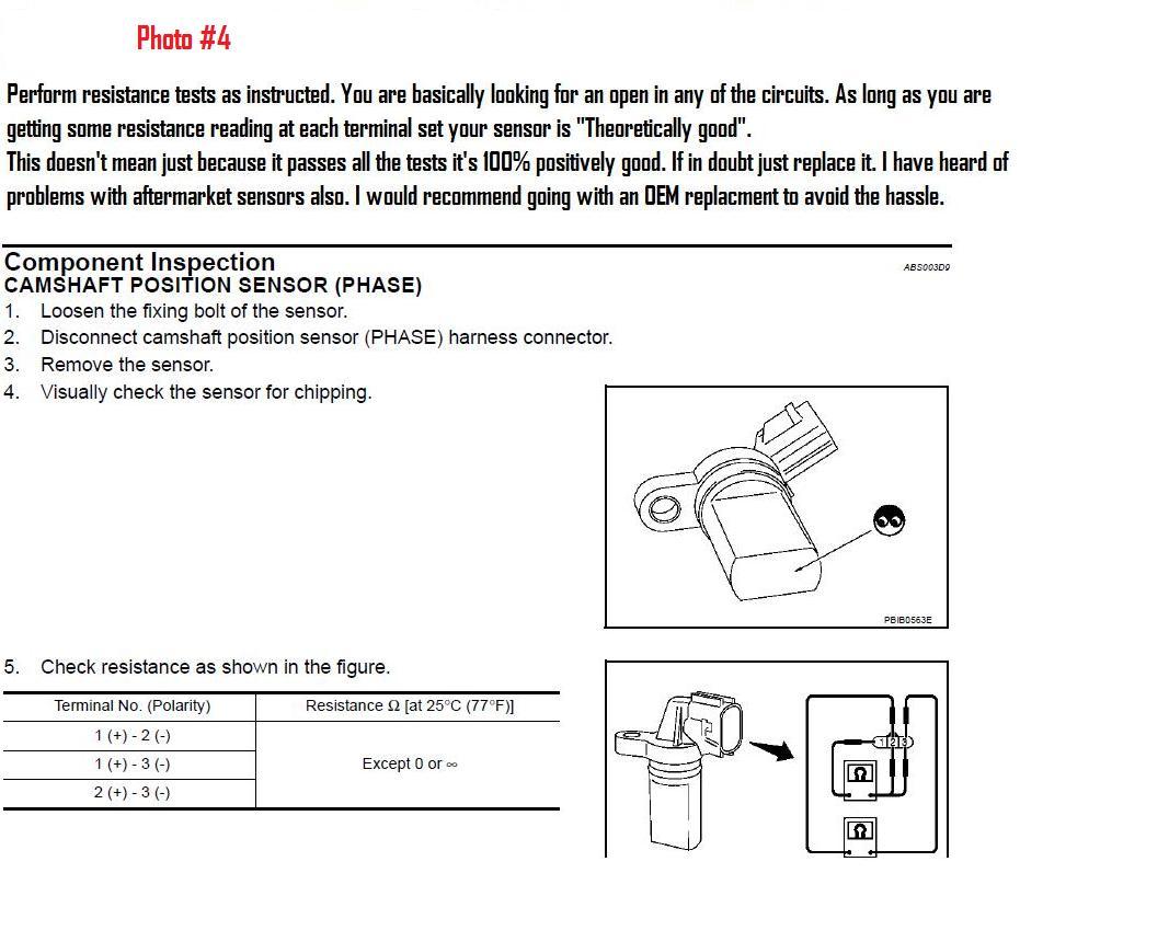 2003 Infiniti G35 Camshaft Position Sensor