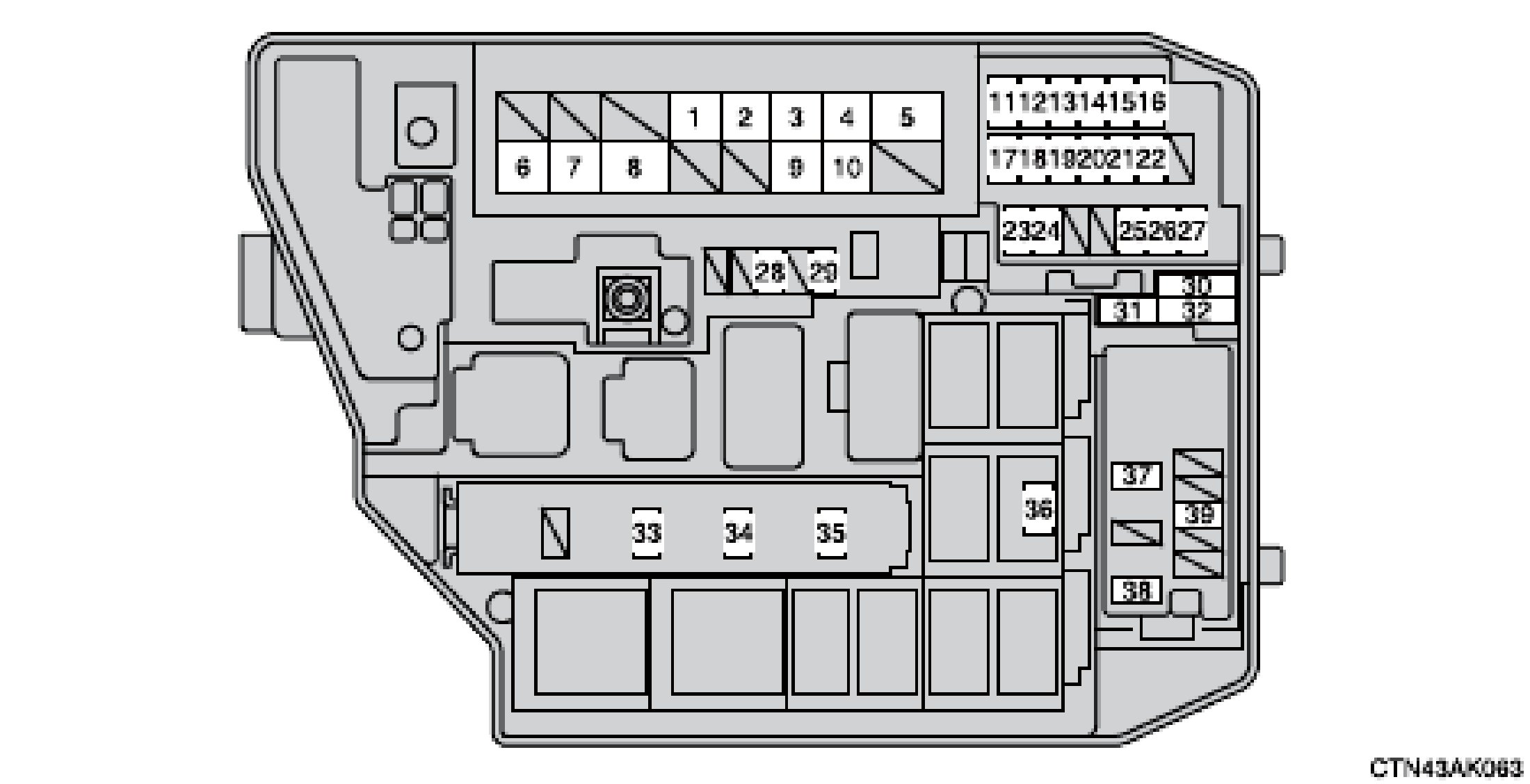 2003 Toyota Highlander Fuse Box Diagram