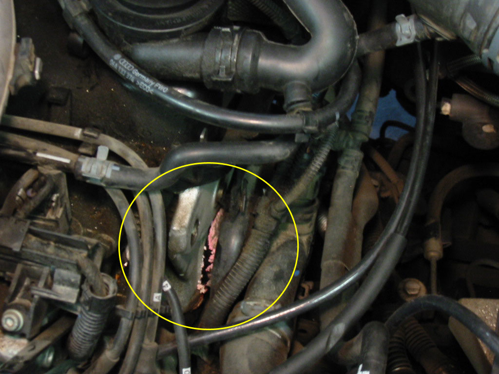 2003 VW Passat Engine Coolant Leak