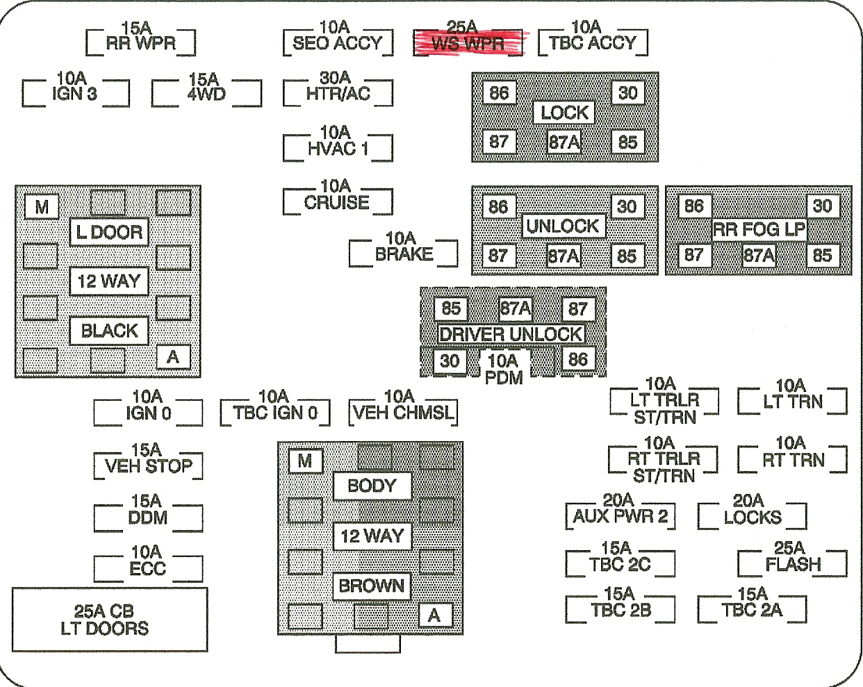 2004 Cadillac Escalade Fuse Box Diagram
