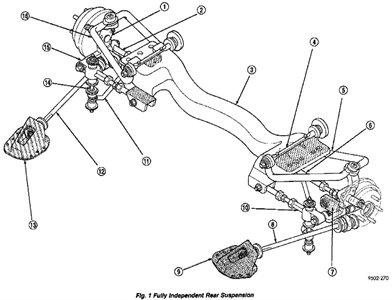 2004 Dodge Stratus Rear Suspension Diagram Image Details
