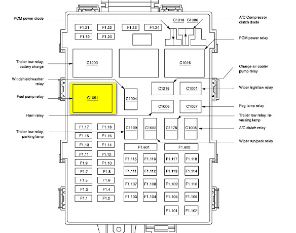 fuel pump relay location 2004 f350 6 0  diagram  wiring