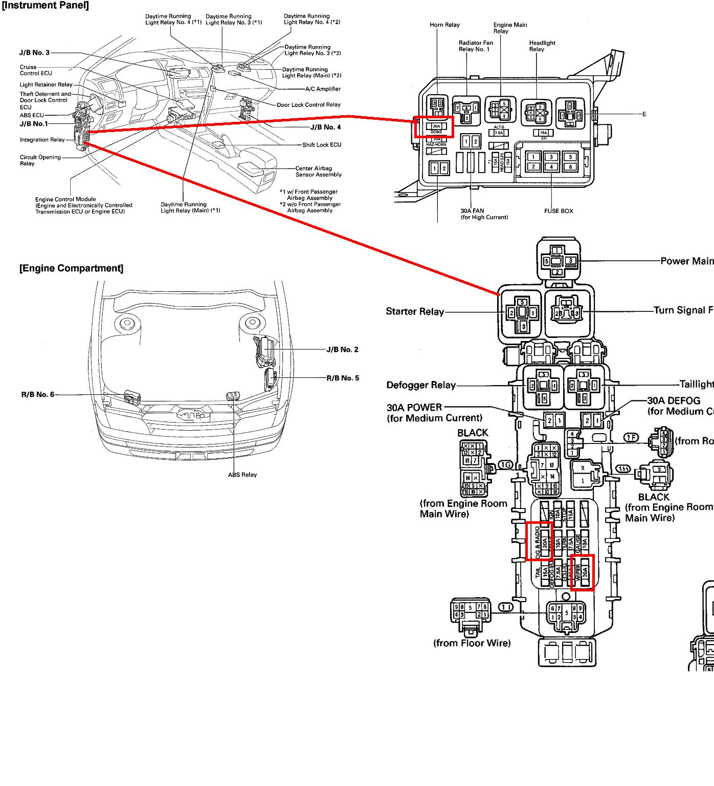 2000 toyota avalon fuse box wiring diagram 1998 Avalon Fuse Box