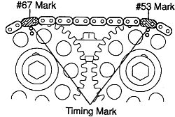 2004 Toyota Corolla Timing Chain Marks