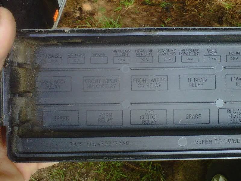 2000 Chrysler Town Country Fuse Box Diagram Image Details