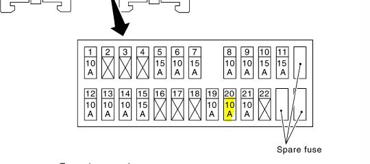 2006 infiniti m35 fuse box diagram high beam  infiniti