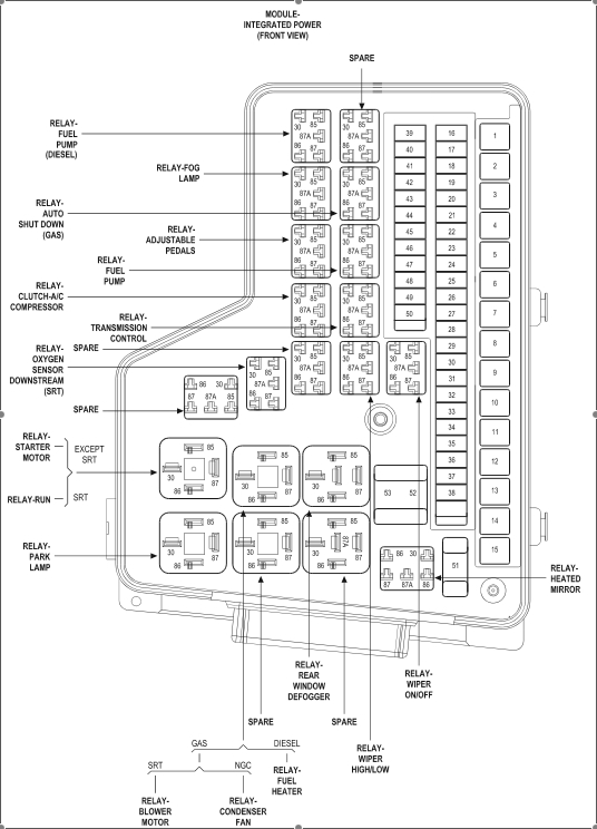 27 2005 Jeep Liberty Fuse Box Diagram
