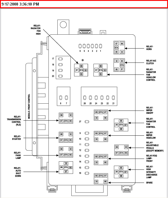Fuse Box On Chrysler 300 Wiring Diagram Pass