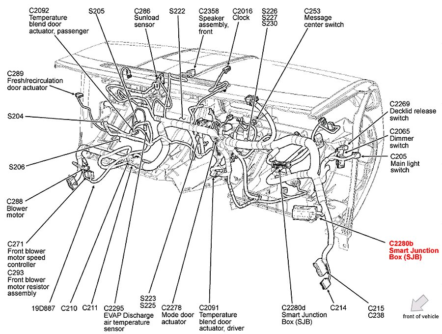 2006 Ford Escape Engine Diagram Ford Wiring Diagram Instructions