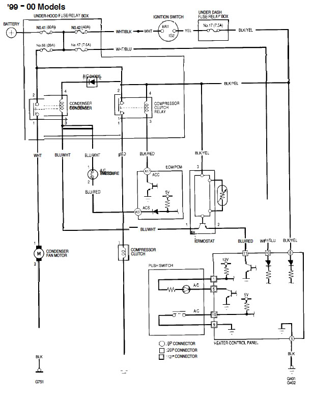 2008 Honda Crv Air Conditioning Wiring Diagram