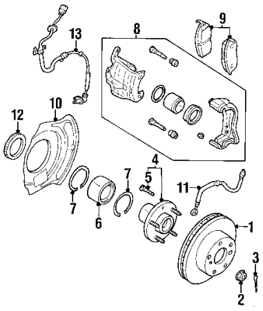 2006 Nissan Altima Front Brake Diagram