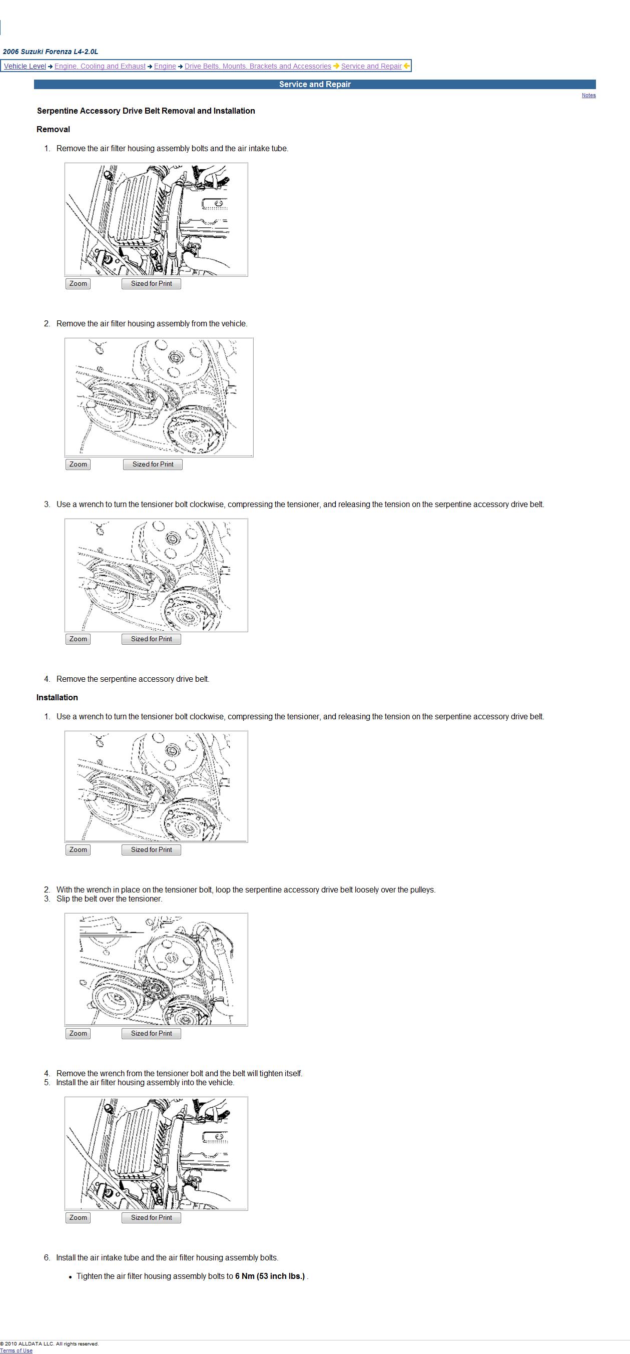 2006 Suzuki Forenza Timing Belt Diagram Image Details