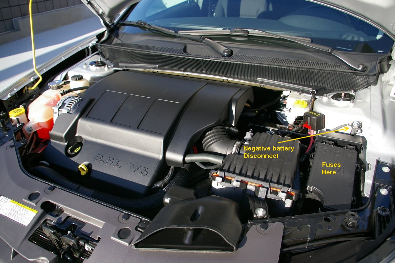 2007 Chrysler Sebring Battery Location