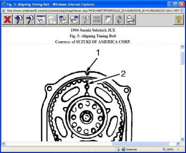 2007 Suzuki Vitara Timing Marks Diagram