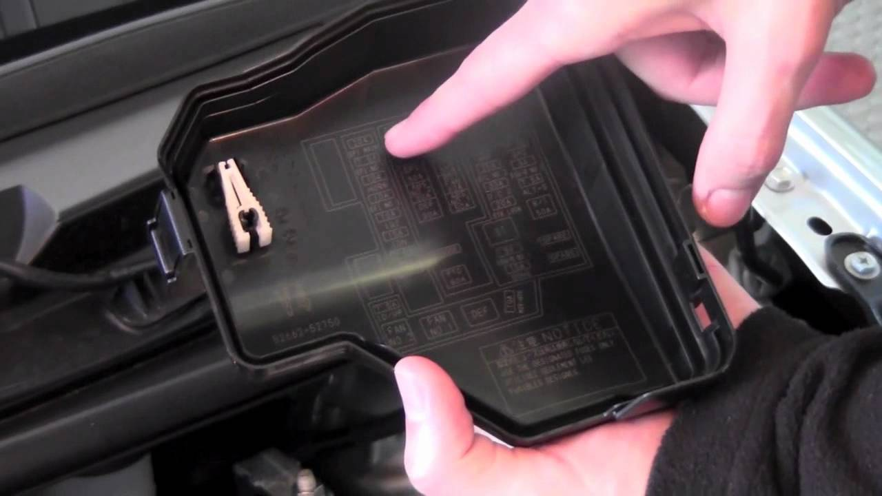 2007 Toyota Sienna Fuse Box Diagram