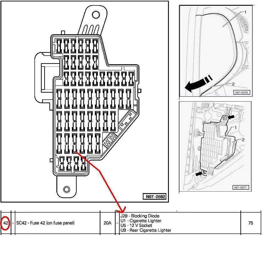2007 VW Jetta Fuse Box Diagram