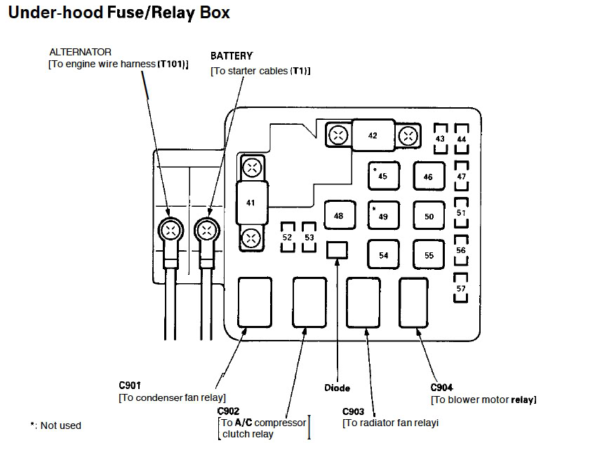 2009 Honda Civic Relay Diagram