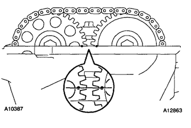 2009 Toyota Corolla Timing Chain Marks