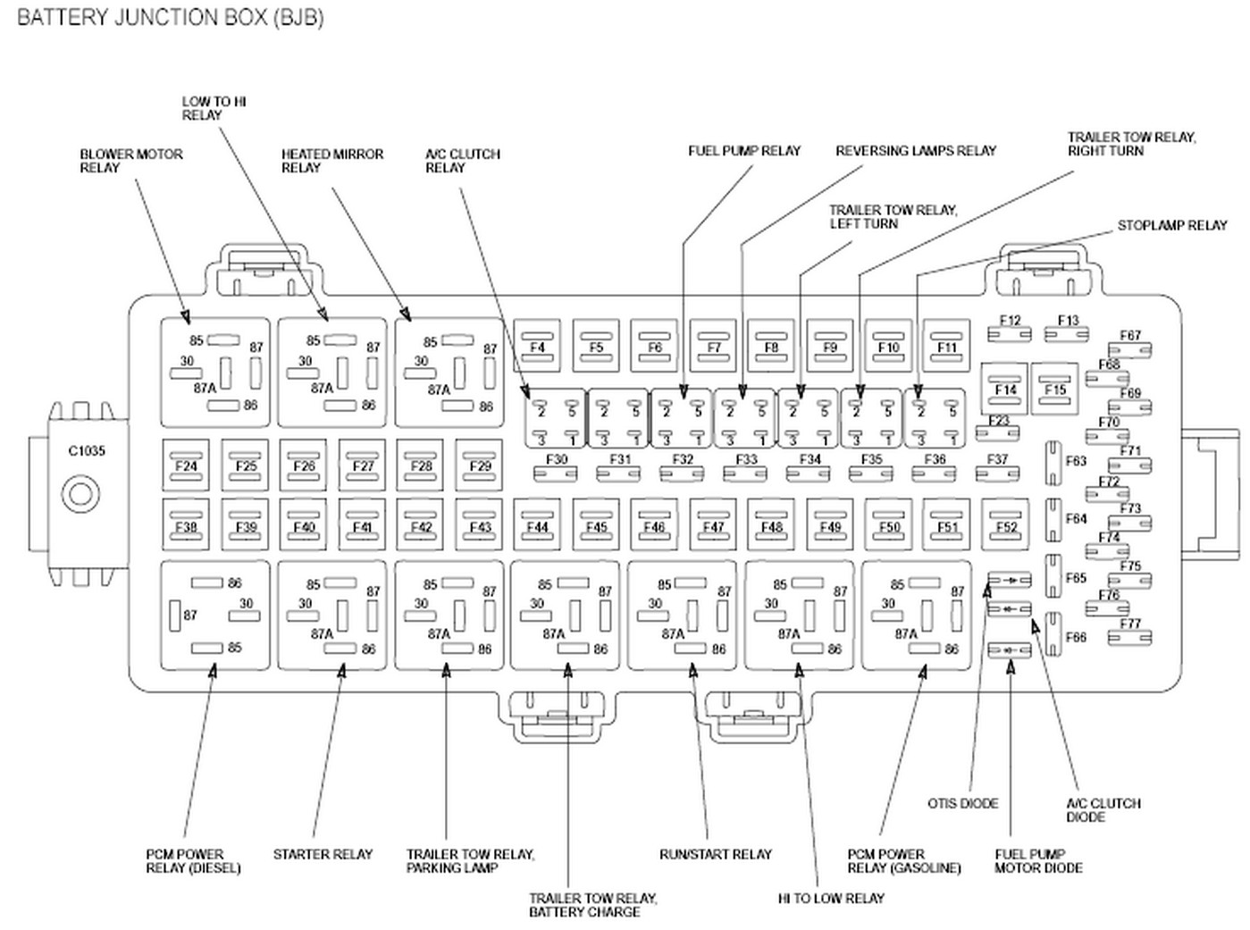 Ford Truck Fuse Diagram 2005 F 350 Wiring Diagrams Focus 2007 Box Layout