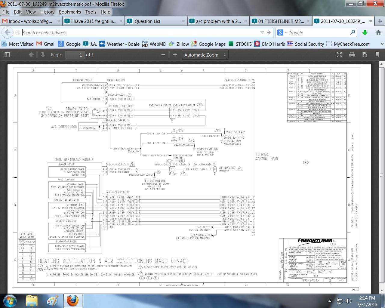 Freightliner Wiring Fuse Box Diagram Image Details Frightliner Fl80 2011 M2 Diagrams
