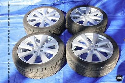 2012 Mitsubishi Lancer ralliart 18 034 Wheels Yokohama CY4A Turbo Rims