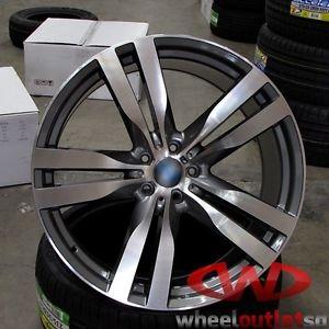 "22"" Wheels Fits BMW x5 x6 M Machined Gunmetal E70 x5 Style 300 Rims"