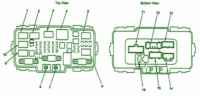 1995 honda crv fuse box