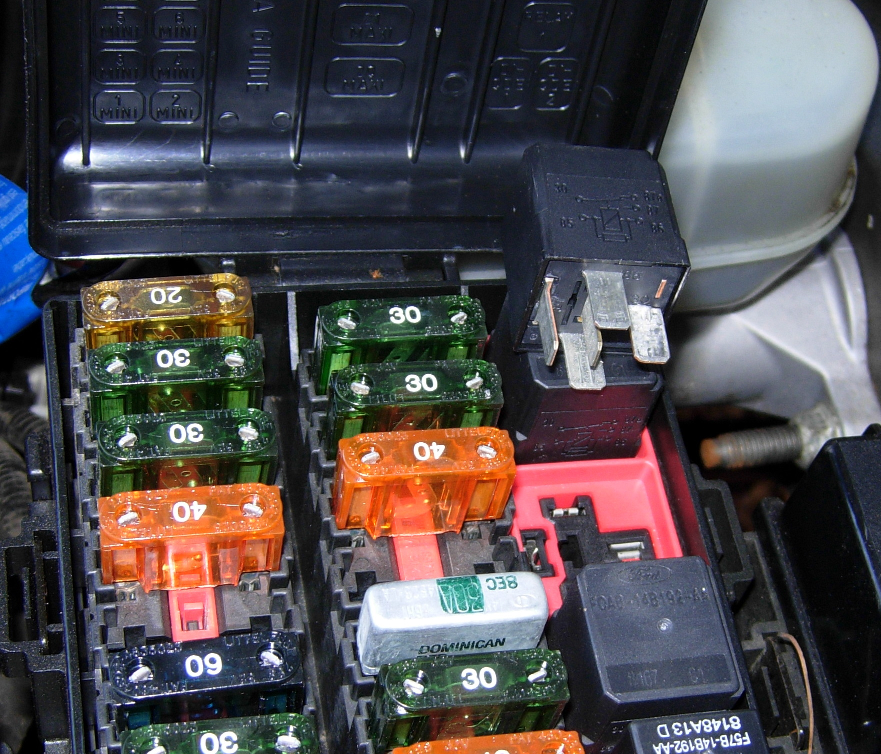 01 F150 Cruisecontrol Fuse Box