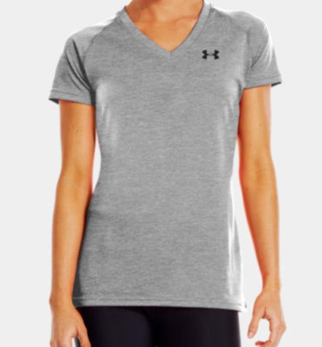 Armour Women's Tech Short Sleeve Tee Shirt Gray 1228321 025 | eBay