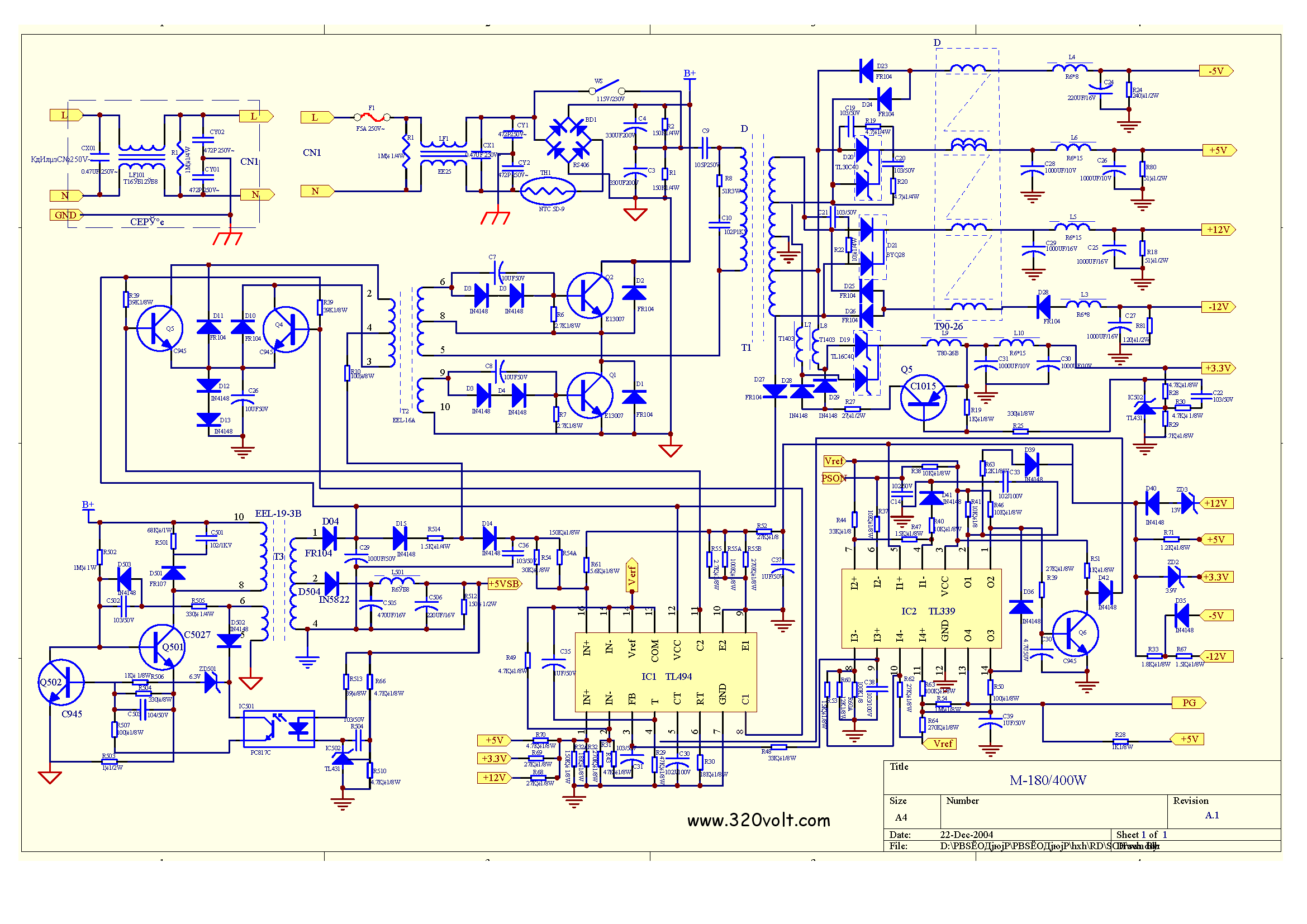 Atx Wiring Diagram Library Welding Circuit Power Supply Schematic