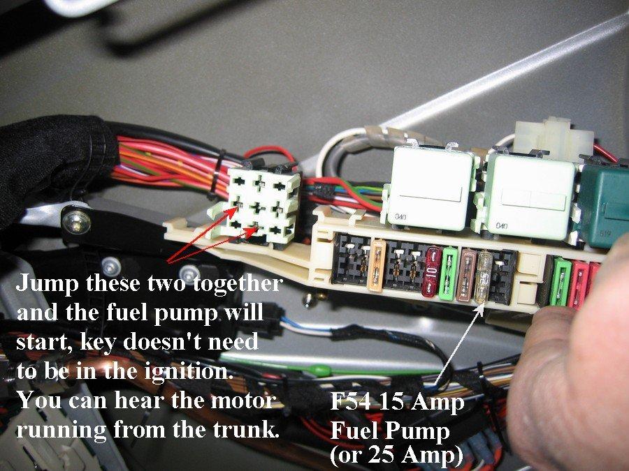BMW Fuel Pump Relay Location