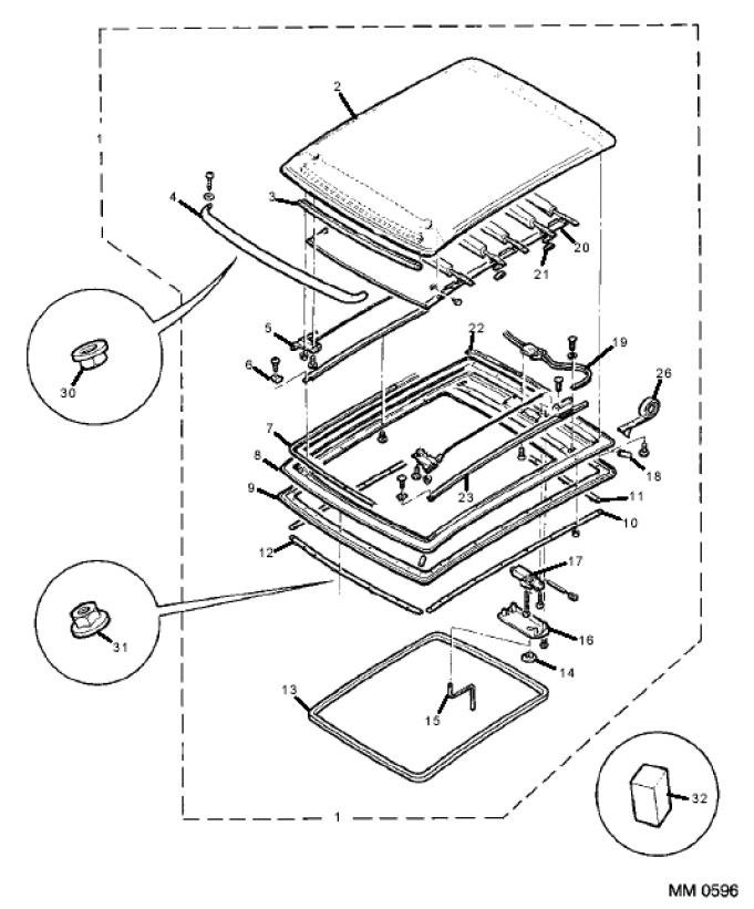 BMW Sunroof Parts