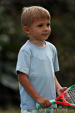 Boy With A Racquet Royalty Free Stock Photo  Image: 1226865