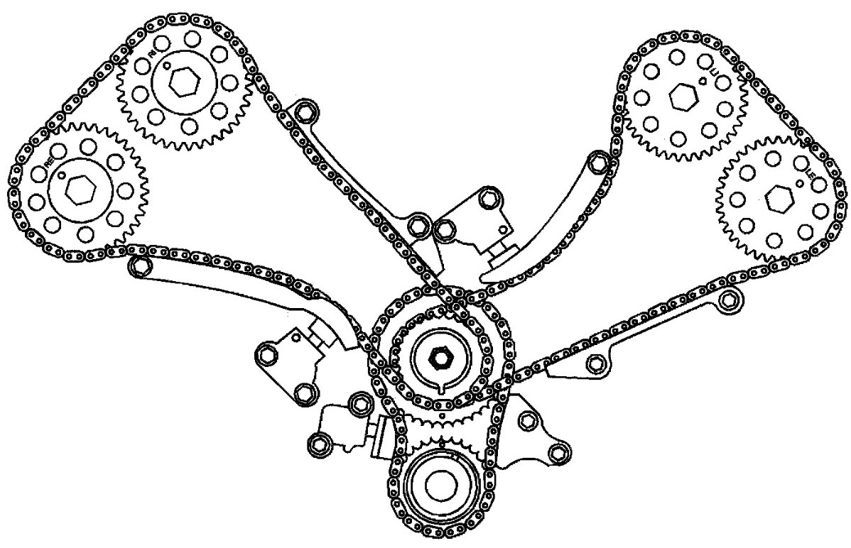 Cadillac Northstar Timing Chain Diagram