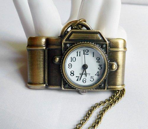 Camera Pocket Watch Necklace