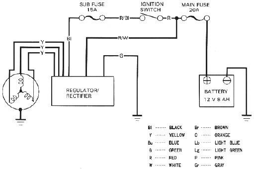 Charging System Wiring Diagram Image Details