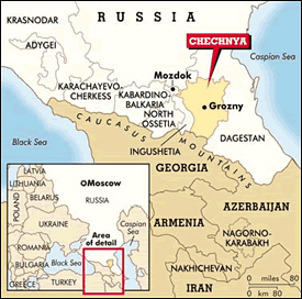 Chechnya Map Russia