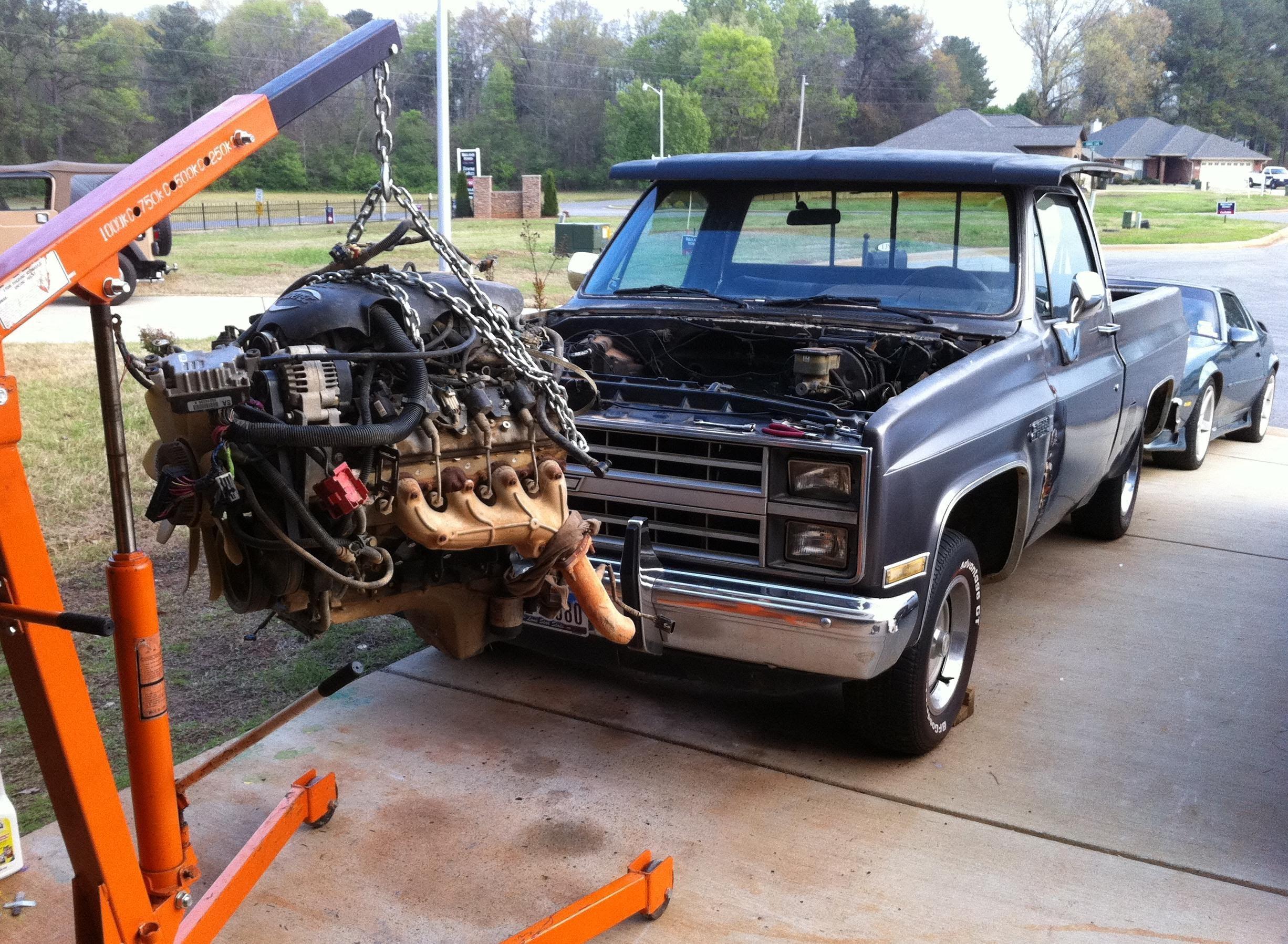 Chevy C10 Engine Swap