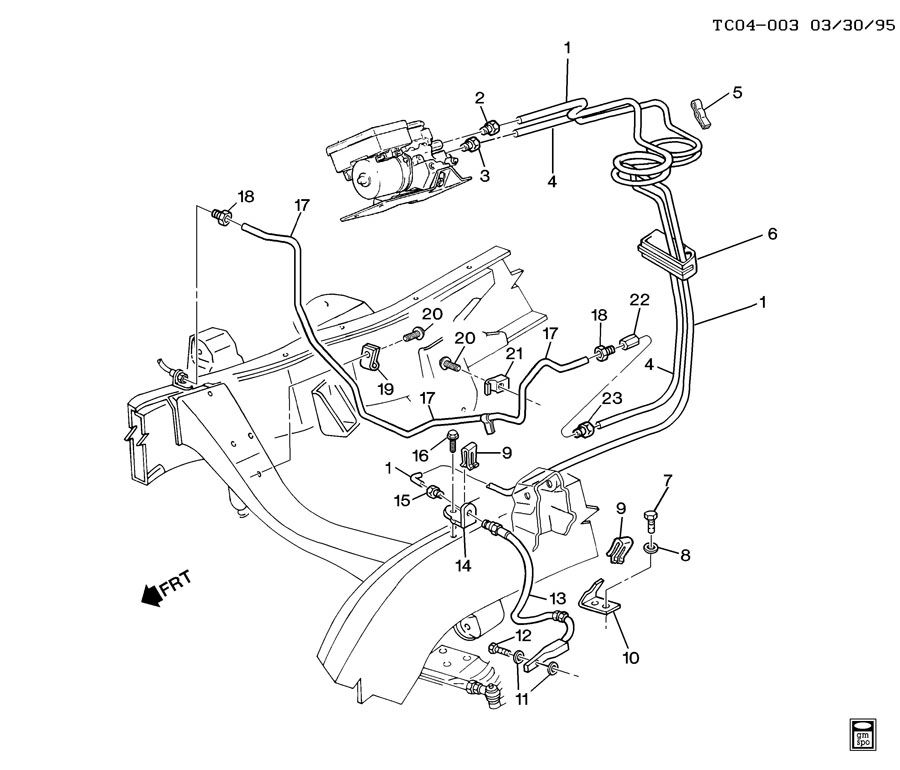 2003 Chevy Avalanche Rear Brake Line Image Details
